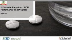 Second Quarter Report on LMCU Performance and Progress