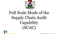 Full Scale Mode of the Supply Chain Audit Capability (SCAC)