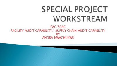 NSCIP Special Project Workstream (FAC/SCAC) By Andra Nwachukwu